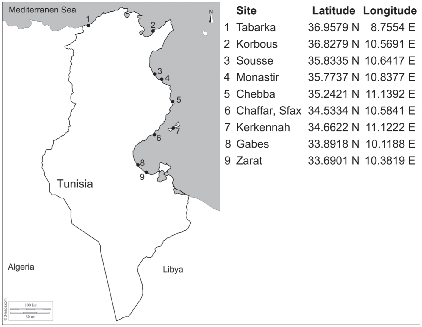 A DNA Barcoding Survey of Ulva (Chlorophyta) in Tunisia and Italy ...
