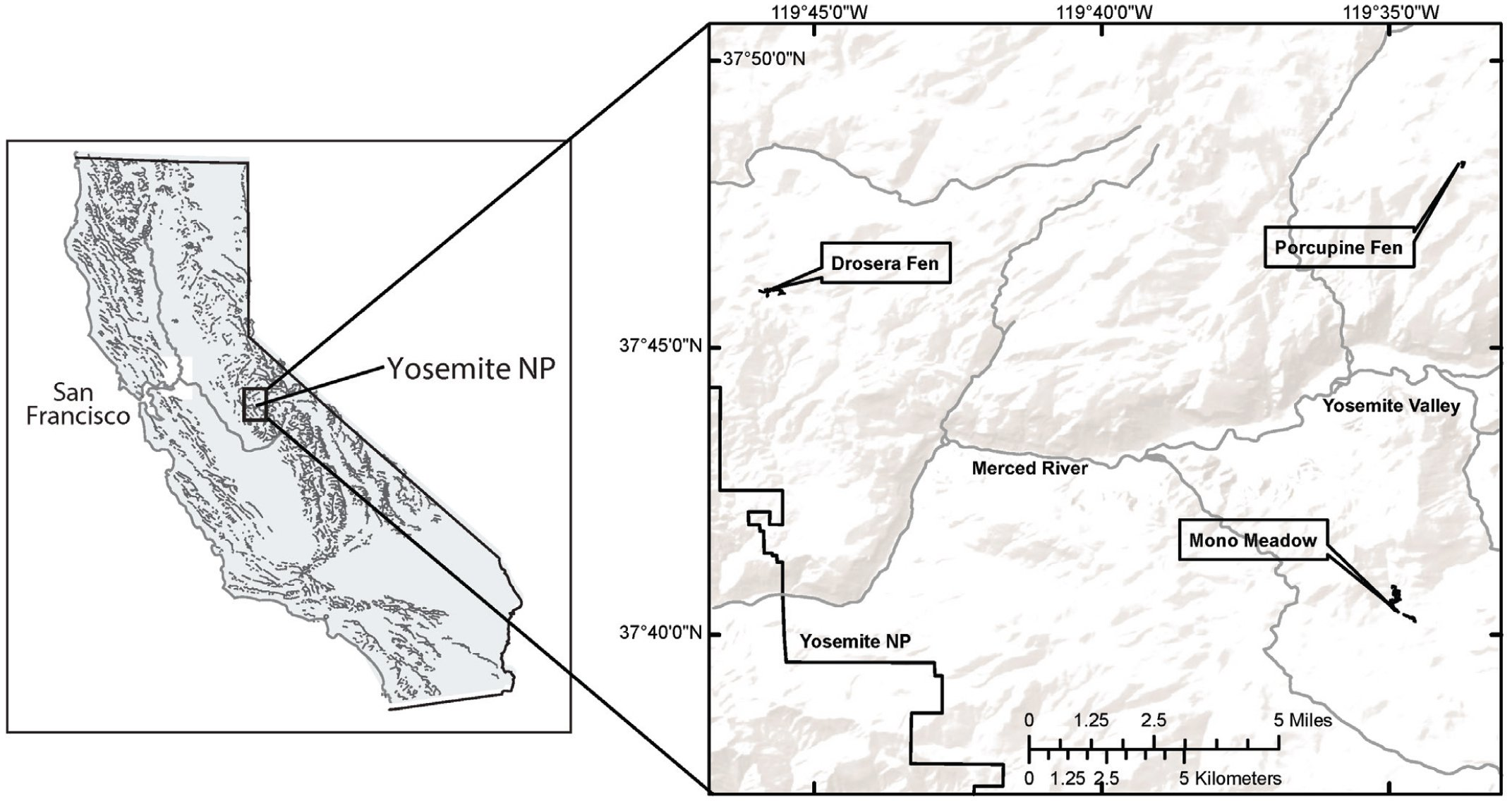 Recent Rates of Carbon Aculation in Montane Fens of Yosemite ... on map of smokey mountains national park, map of oc beaches, map of burney falls, map of bx, map of united states, map of zephyr, map of national parks of america, map of grand canyon, map of taft point, map of devil's postpile, map of eldorado canyon, map of crest, map of willows, map of casey county, map of big thicket, map of california, map of muir trail, map of ione, map of slot canyons, map of national parks in oregon,