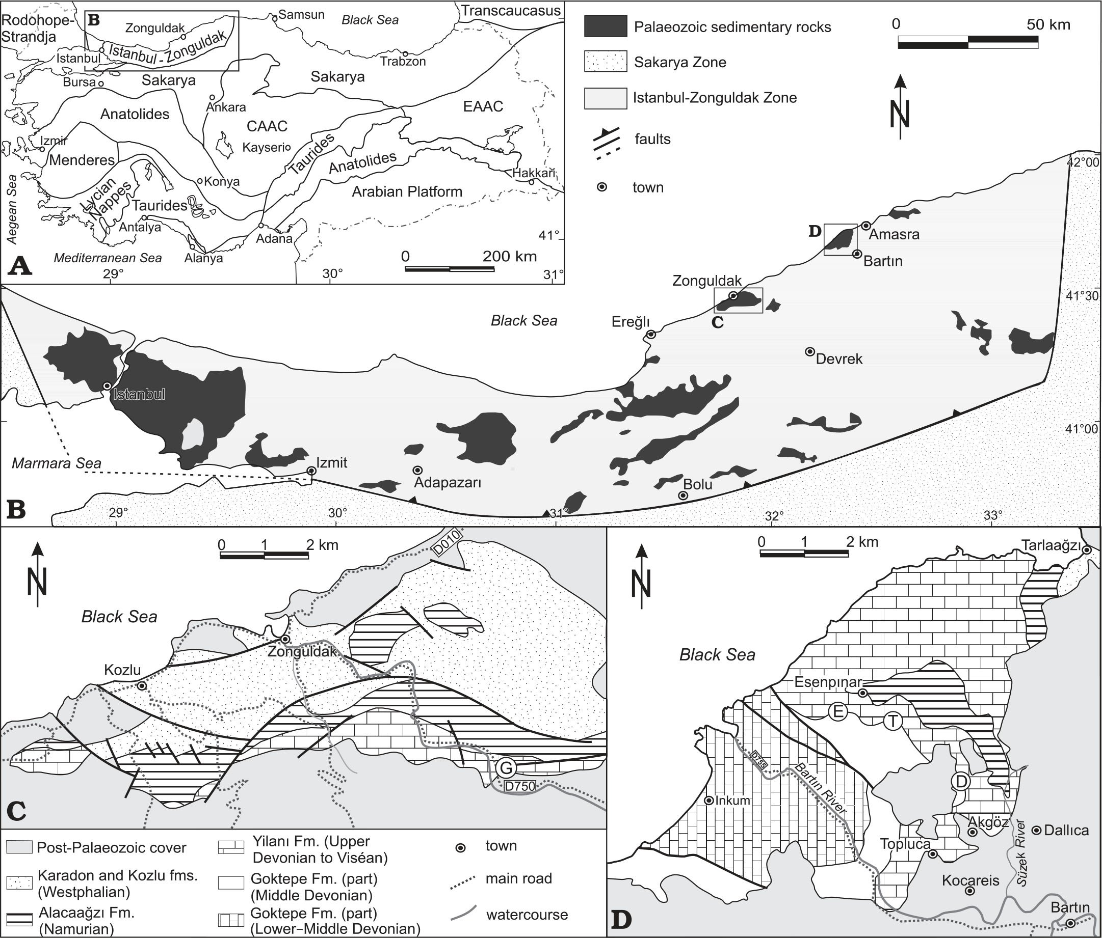 Rugose Corals Across the Devonian—Carboniferous Boundary in NW Turkey