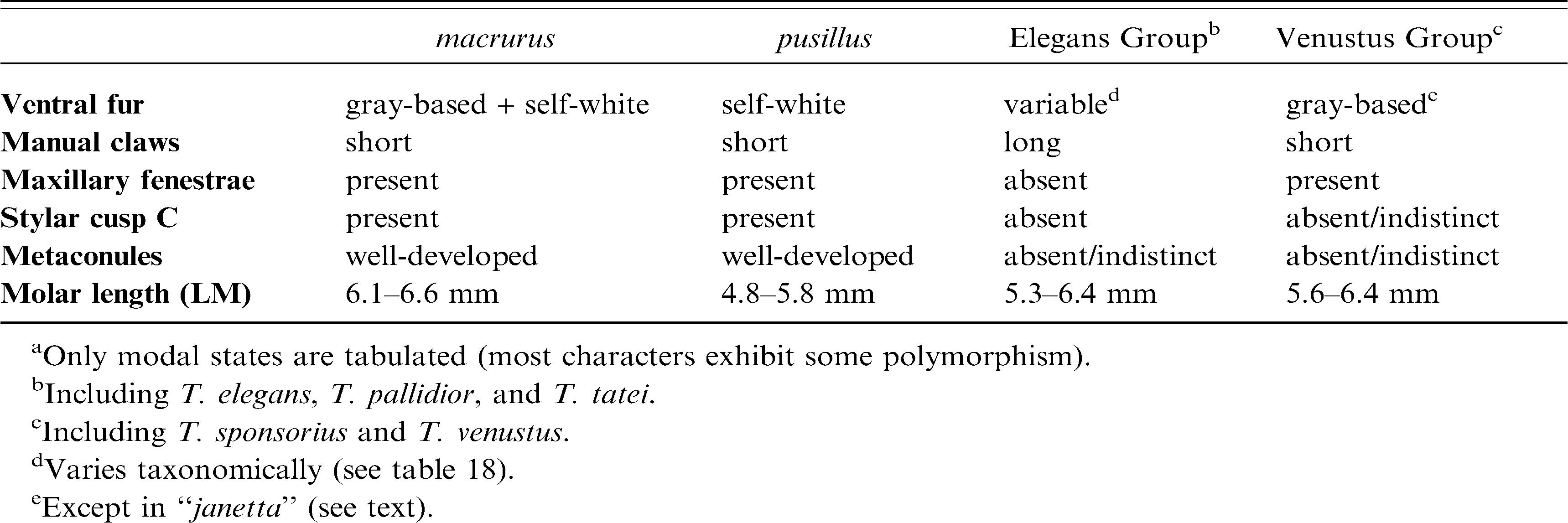 Species Limits and Phylogenetic Relationships in the Didelphid