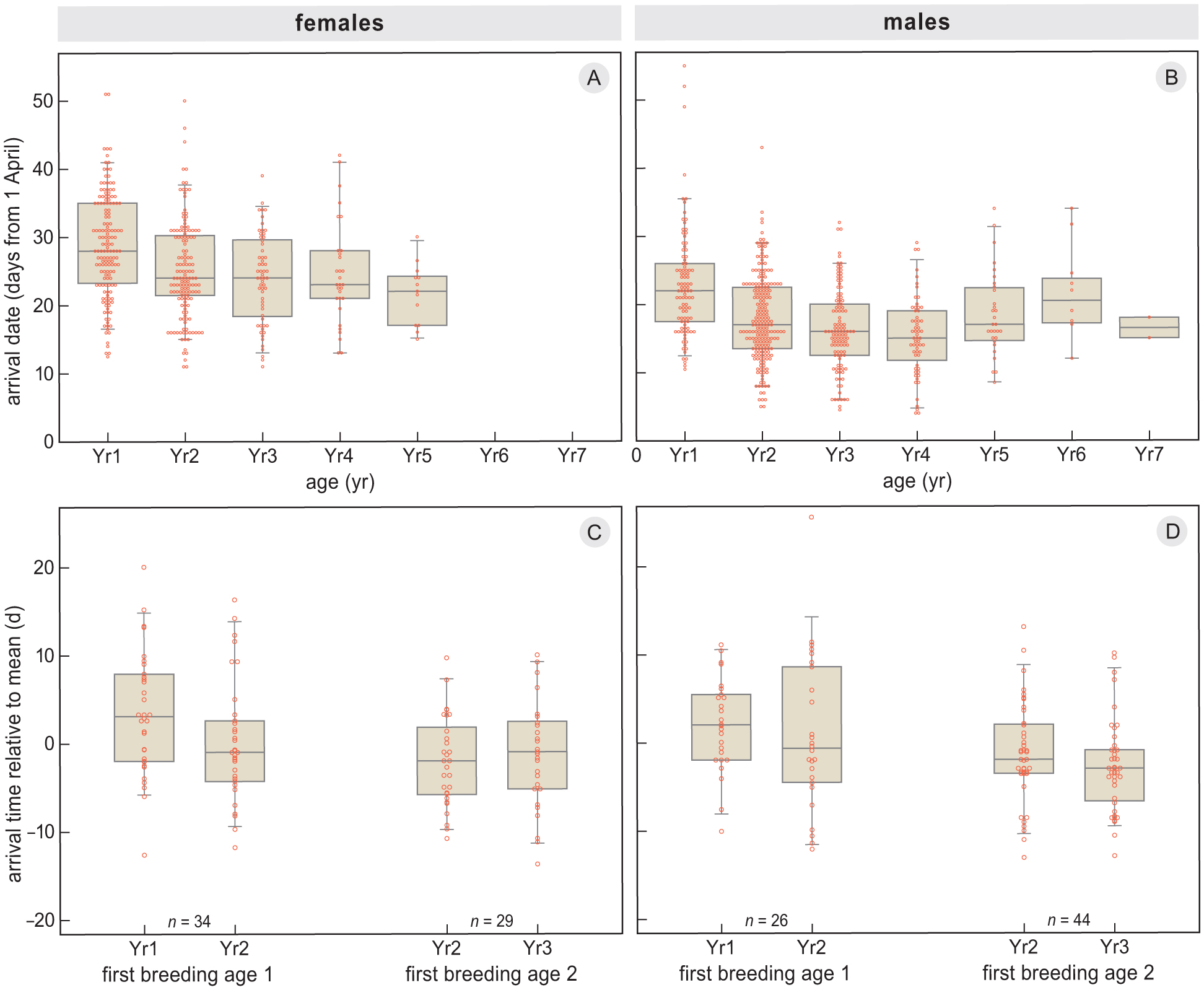 Pied De Lampe Am Pm repeatability in spring arrival dates in pied flycatchers