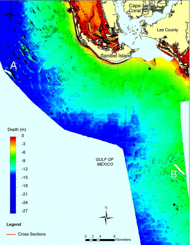 Sediment Ridges on the West Florida Inner Continental Shelf