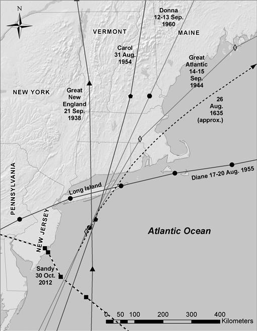 Hurricane Barriers in New England and New Jersey: History