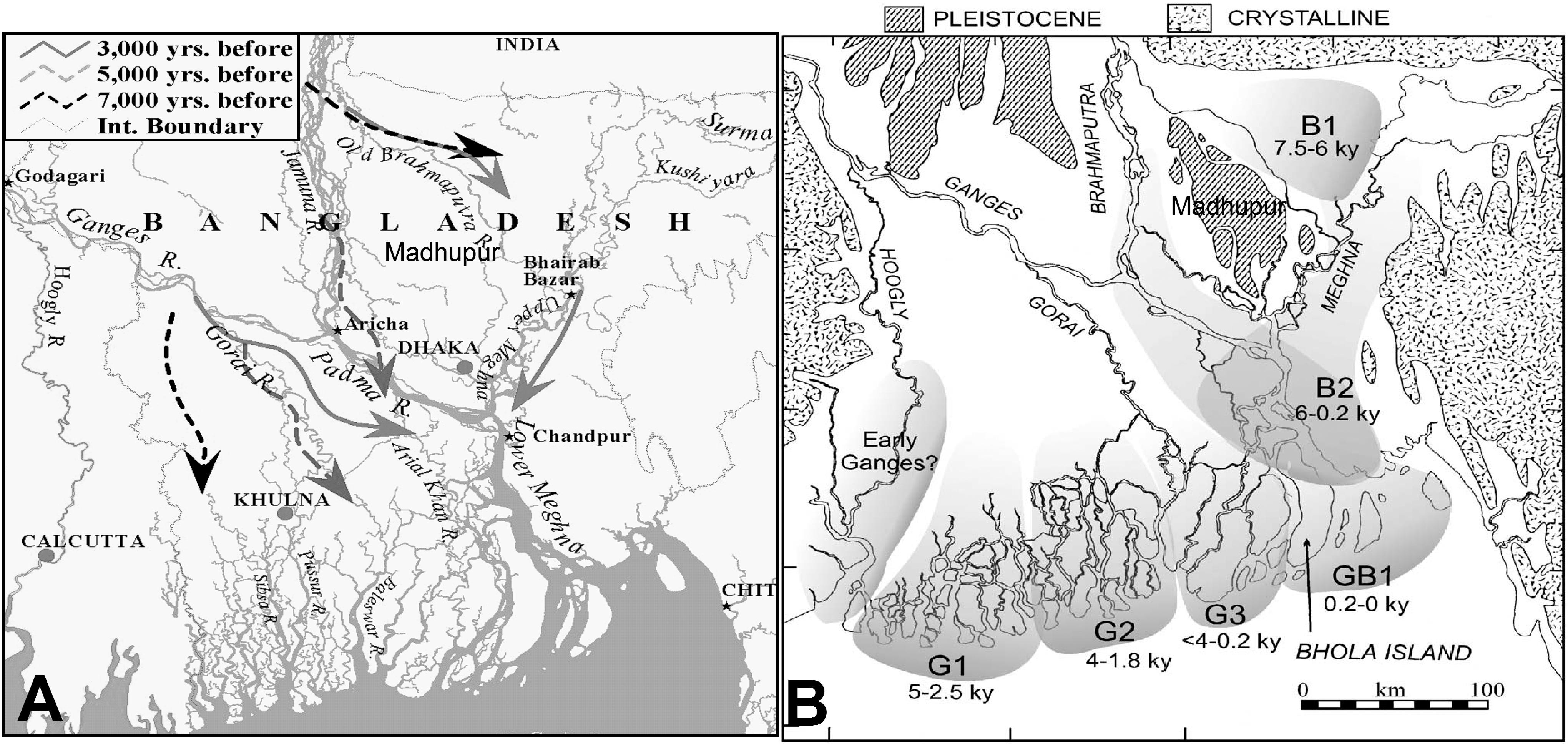 Evolution of the Bengal Delta and Its Prevailing Processes