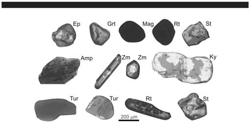 Provenance of Heavy Minerals for the Quaternary Coastal