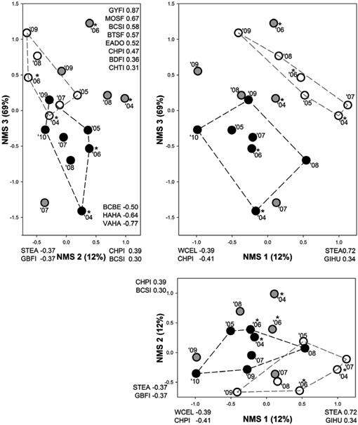 Seasonal and Multiannual Patterns in Avian Assemblage