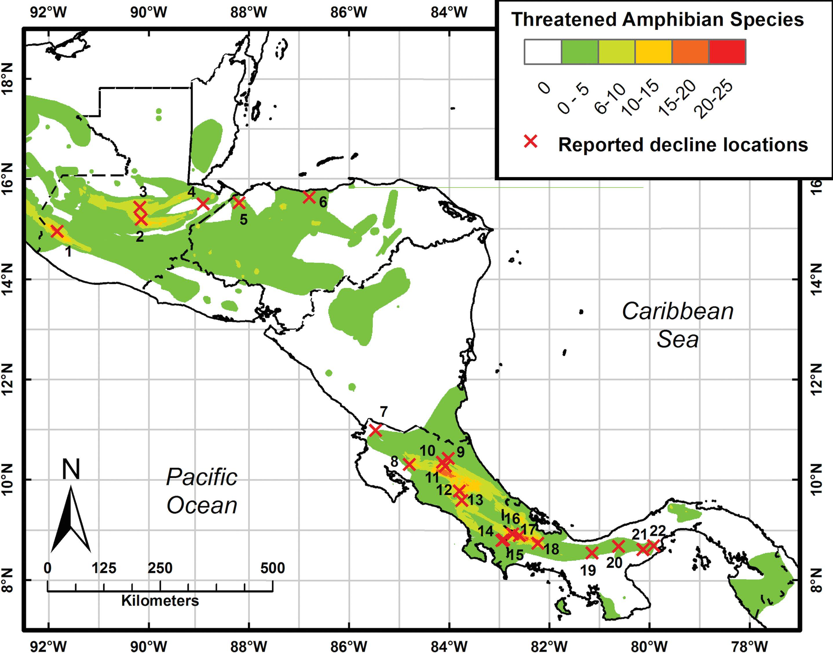 Amphibian Decline and Conservation in Central America