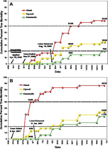 Efficacy of Two Systemic Insecticides Injected Into Loblolly