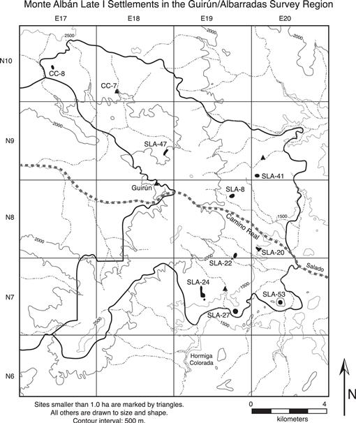 Settlement Patterns In The Albarradas Area Of Highland Oaxaca