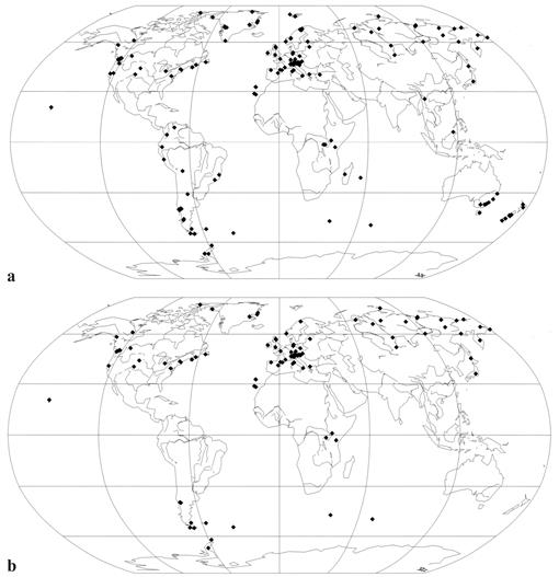 Bryophilous Ascomycetes Everywhere Distribution Maps Of Selected