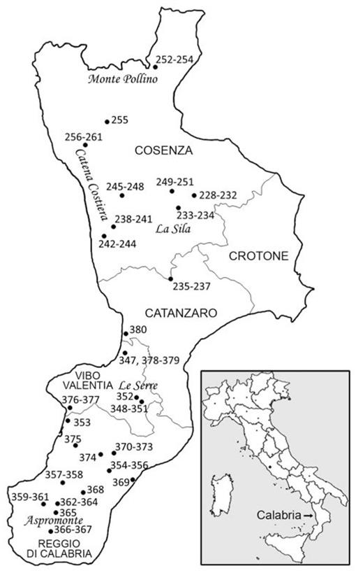 New Records of Lichenicolous Fungi from Calabria (Southern