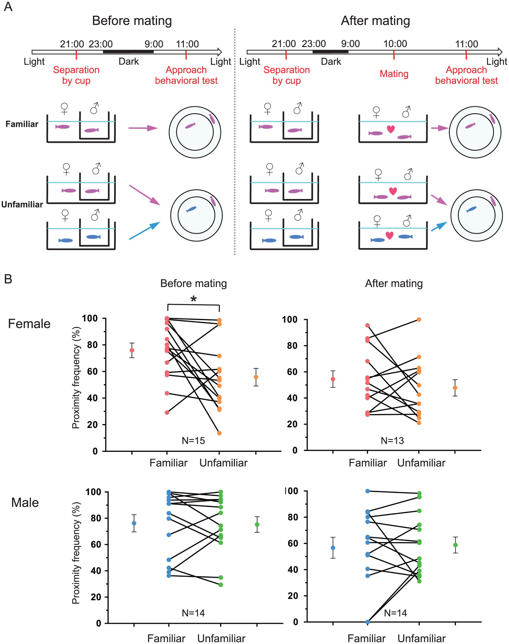Ontogeny and Sexual Differences in Swimming Proximity to