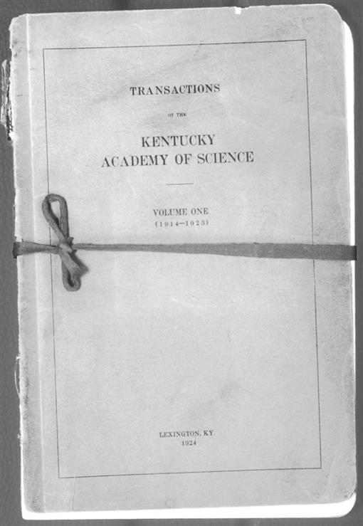 History Of The Kentucky Academy Of Science Over Its First