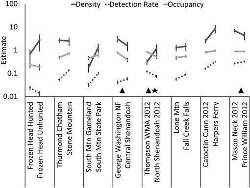 Do occupancy or detection rates from camera traps reflect