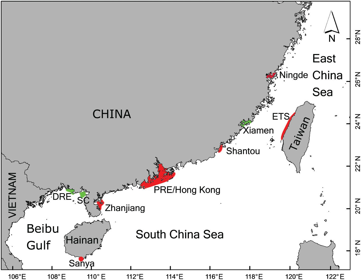 Geographic variation in pigmentation patterns of Indo-Pacific