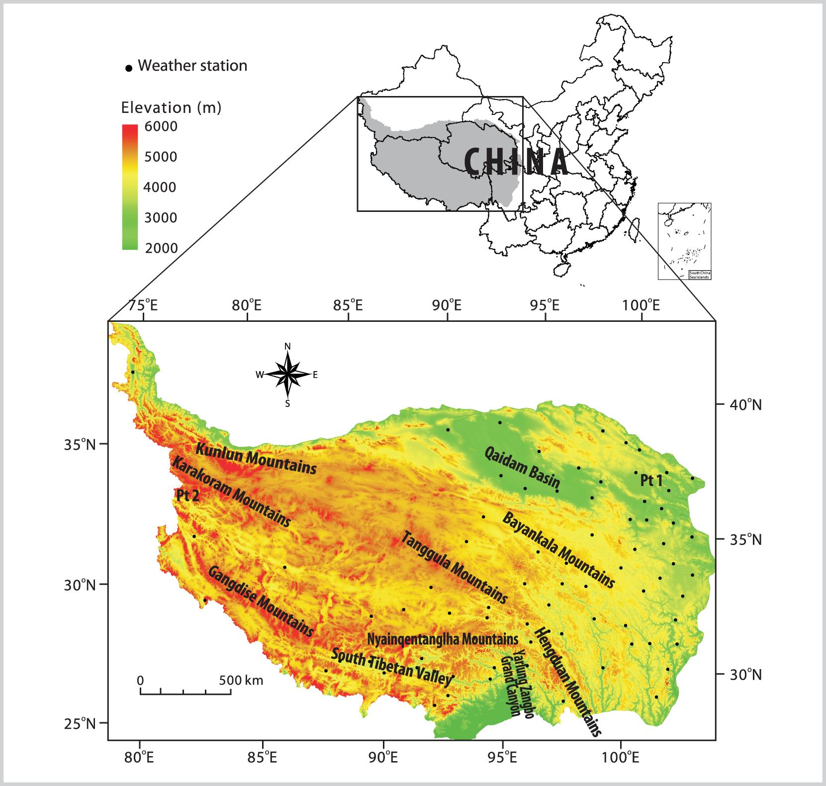 Spatial and Temporal Variations of Land Surface Temperature Over the