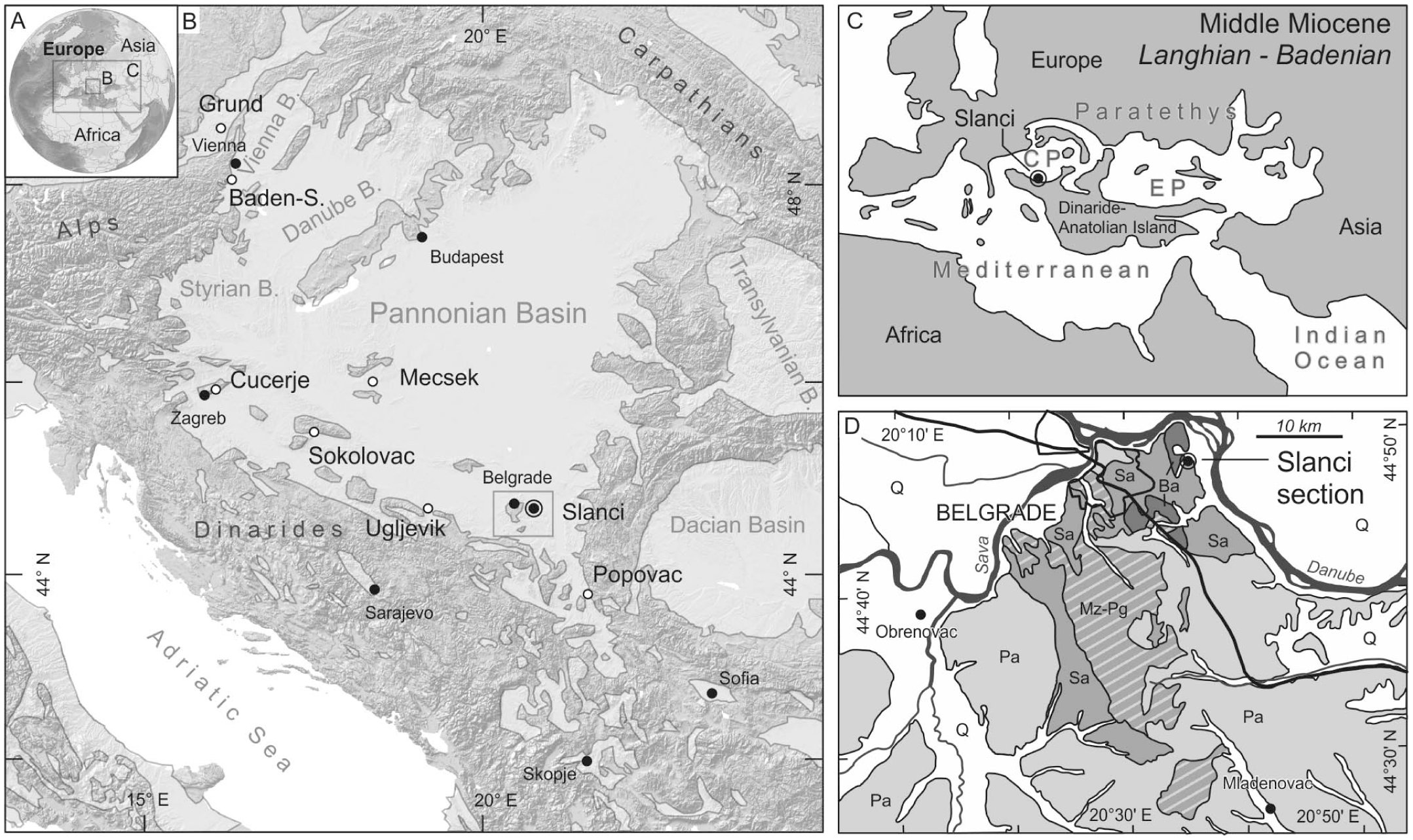 Age and Mode of the Middle Miocene Marine Flooding of the ...
