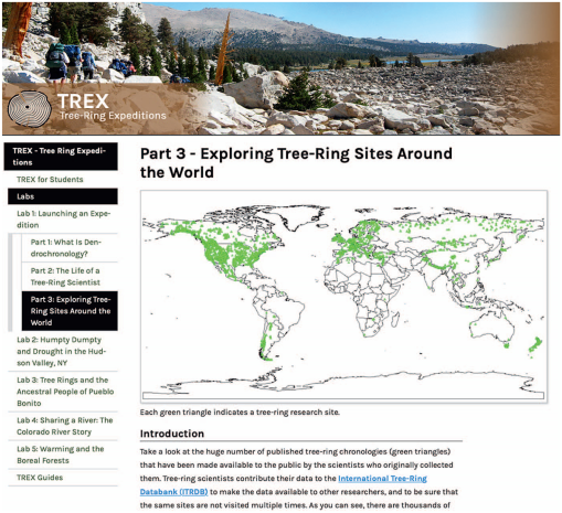TREE-RING EXPEDITIONS (TREX): ONLINE LABS THAT GUIDE